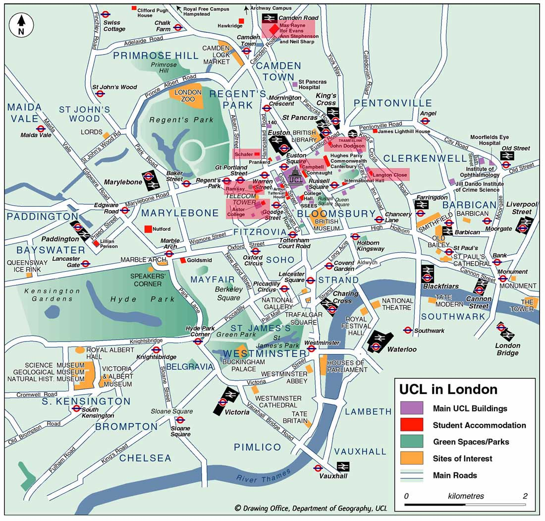 Road Map Central London.Gecco Comes To London